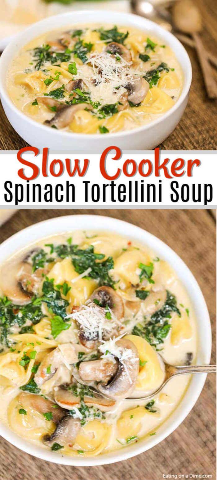 Crock Pot Spinach Tortellini Soup Recipe - easy tortellini soup