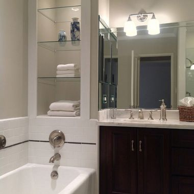 Best Grey Transitional Bathroom Agreeable Gray Agreeable 400 x 300