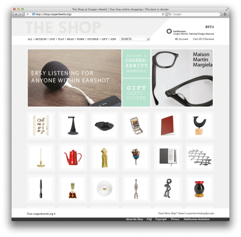 The Cooper Hewitt Shop Web Development Design Web Graphic Design Interactive Design