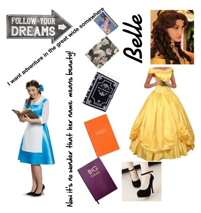 """""""💛Belle💛"""" by natbre ❤ liked on Polyvore featuring Sass & Belle, Olympia Le-Tan, H&M, Smythson and Sloane Stationery"""