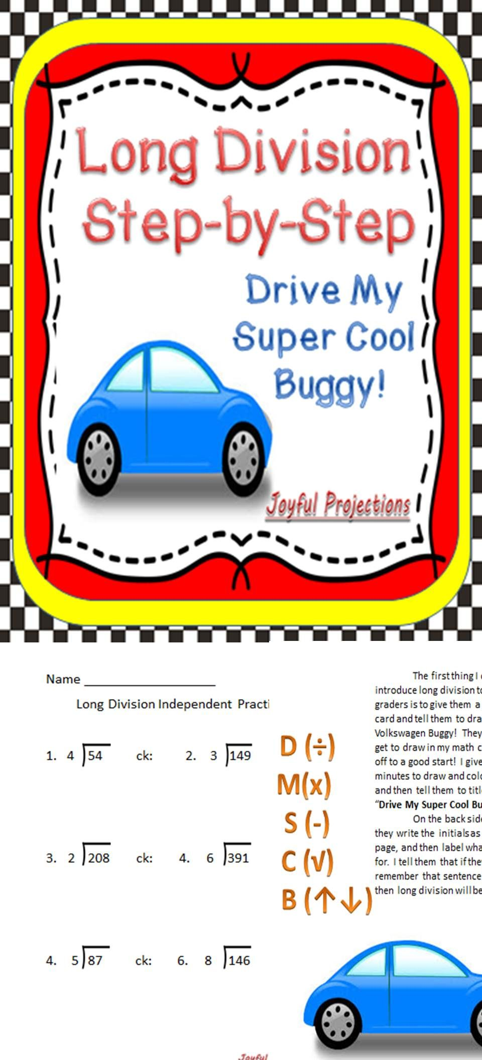 Long Division Step By Step Instructions And Printables Math For