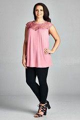 Sleeveless Lace Trim Tunic