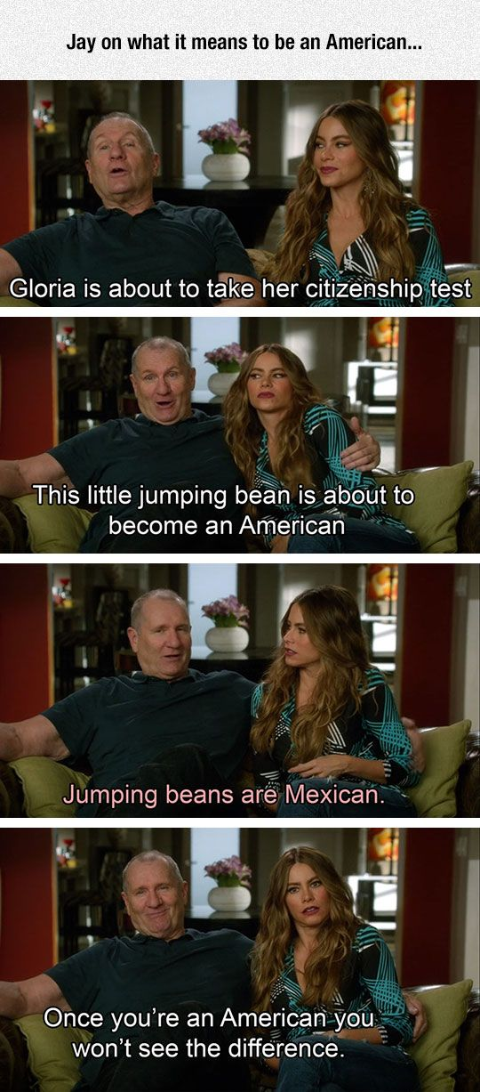 Jay On What It Means To Be American Misc Modern Family Funny