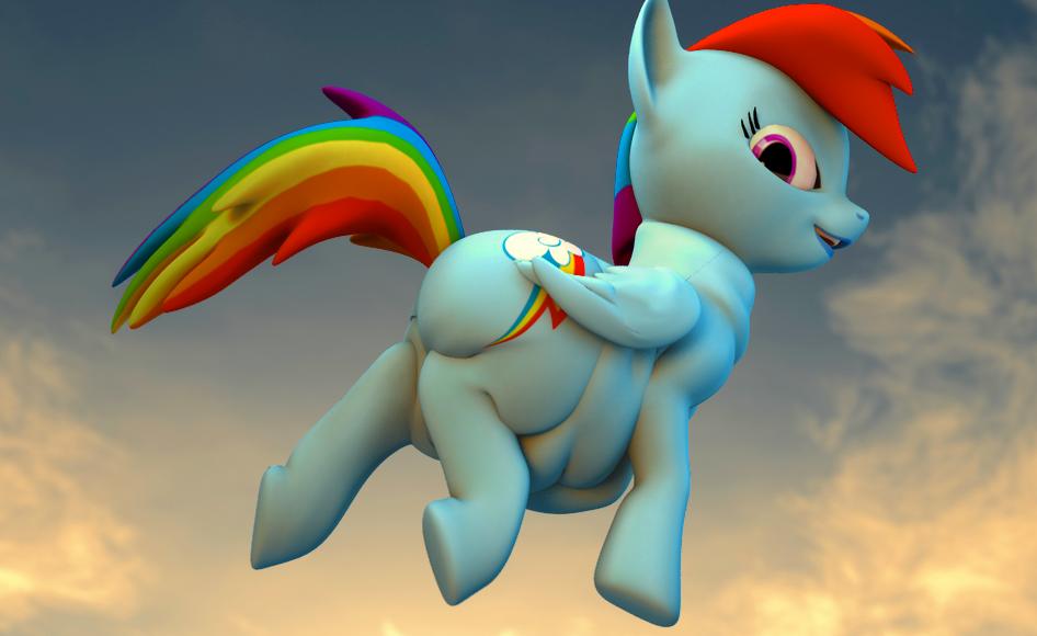 Rainbow Dash Plot #215839 - 3d, a...