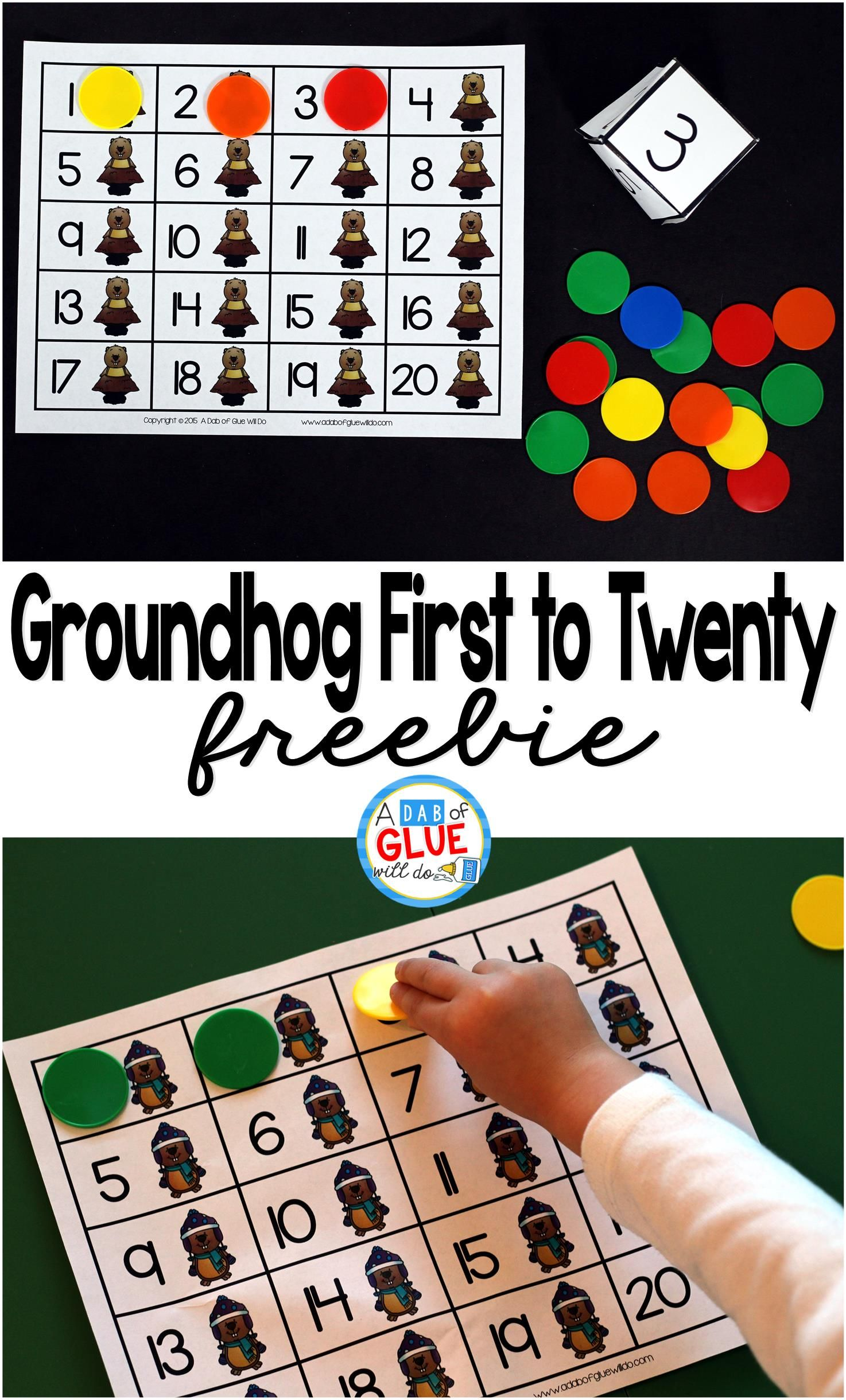 Groundhog First To Twenty Math Game With Images