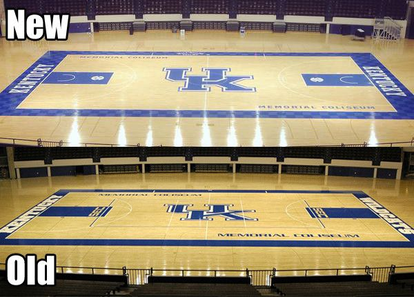 There S A New Uk Logo On The Court At Memorial Big Blue Nation Go Big Blue Kentucky Basketball