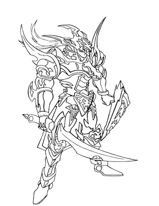 Yu Gi Oh The Enemy Will Attack With Swords Coloring Page For Kids Coloring Pages Yugioh Coloring Pages For Kids
