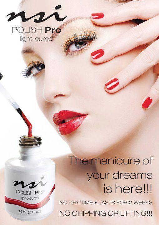 El manicure de tus sueños esta aqui... Luce el color en tus uñas con un acabado que ningun esmalte te puede dar... por 2 semanas completas ¡ Sin rayaduras, despostillamiento y con un brillo formidable.