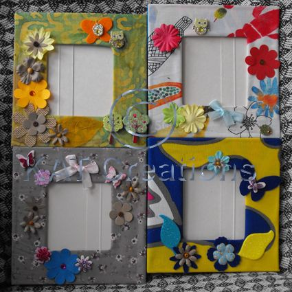 Picture Frames Craft Kit with 8 pre-cut cardboard frames with ...