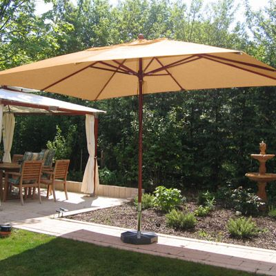Xxl Sonnenschirm Fur Ihren Grunen Wellnessbereich Sonnenschirm Garten Sonnenschirm Sonnenschirm Eckig