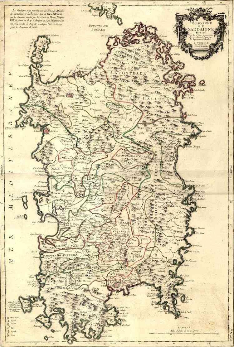 Lovely Antica Mappa Della Sardegna.