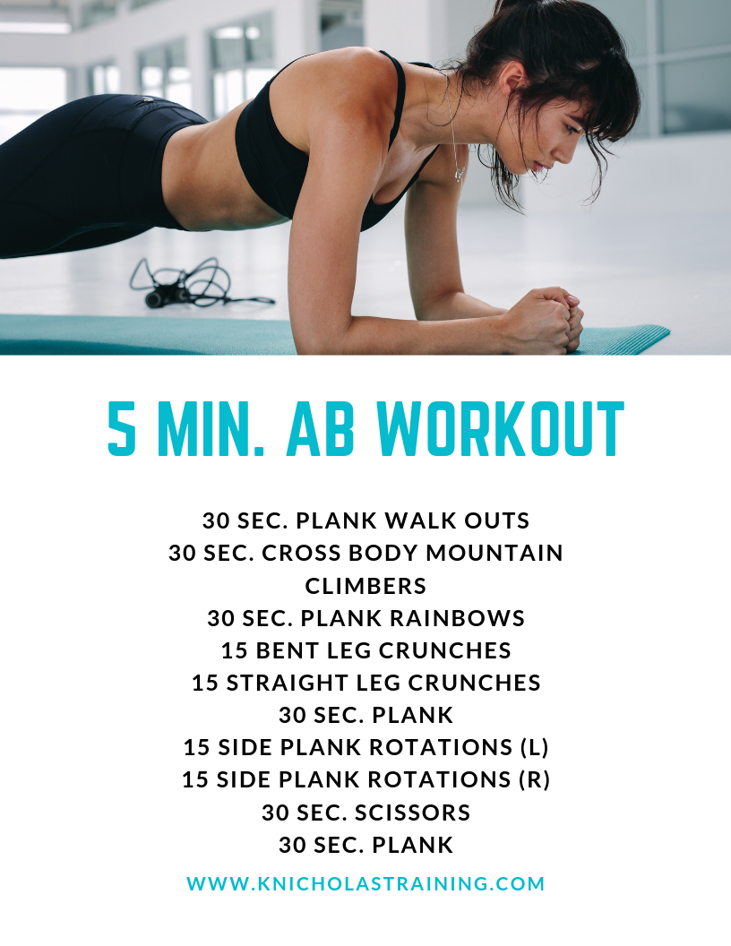 Five Minute Ab Workout — Karen Nicholas Training - fit life - #Abworkoutsathome #fit #fitlife #fitne...