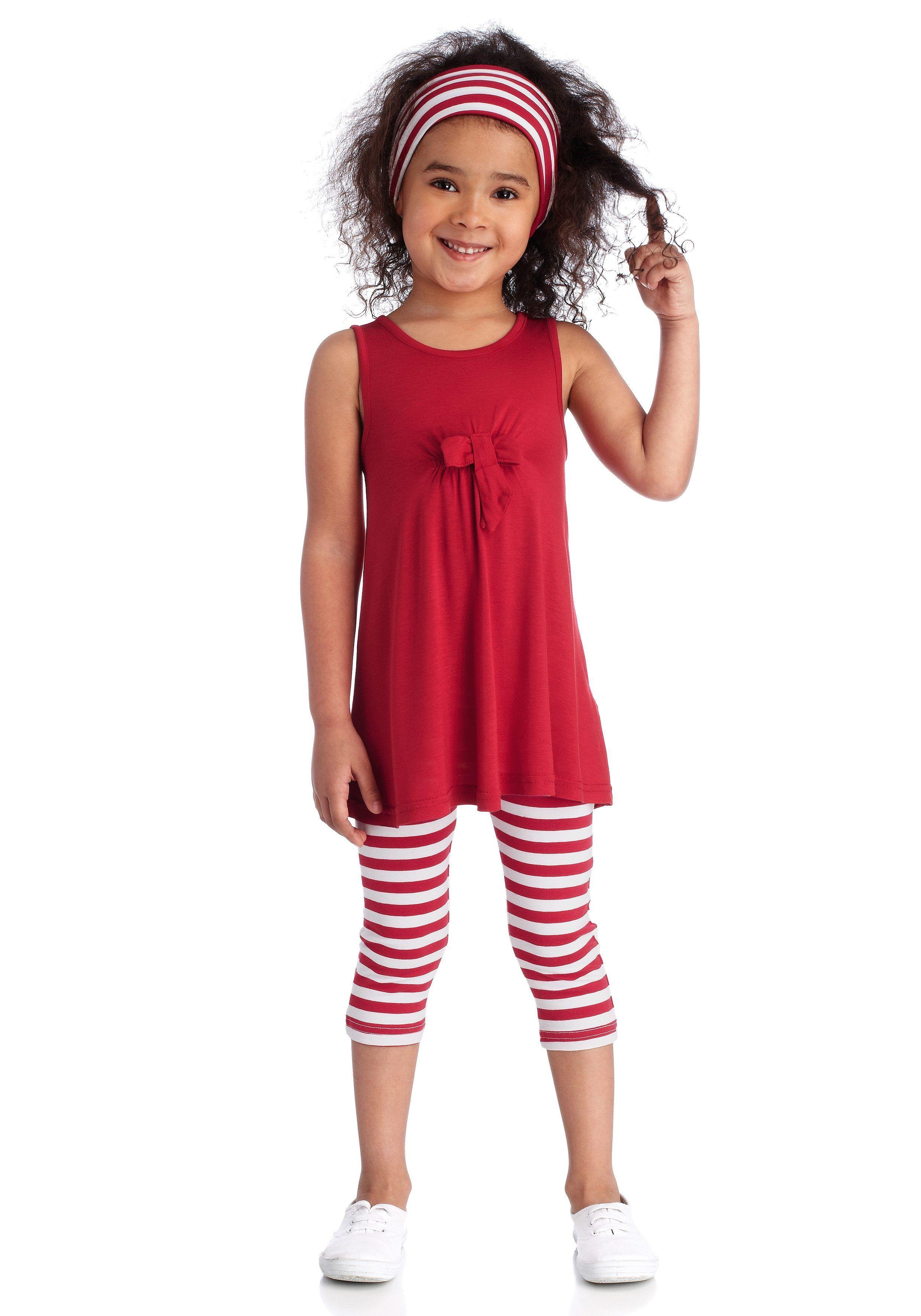 3tlg Outfits Set Toddler Kinder Mädchen T-shirt Hosen Leggings Leggins Stirnband