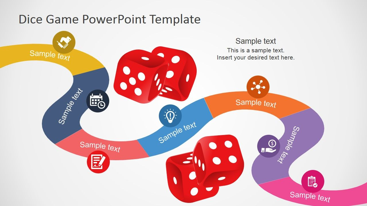 Board Game Powerpoint Template  Game Boards Creative Design And
