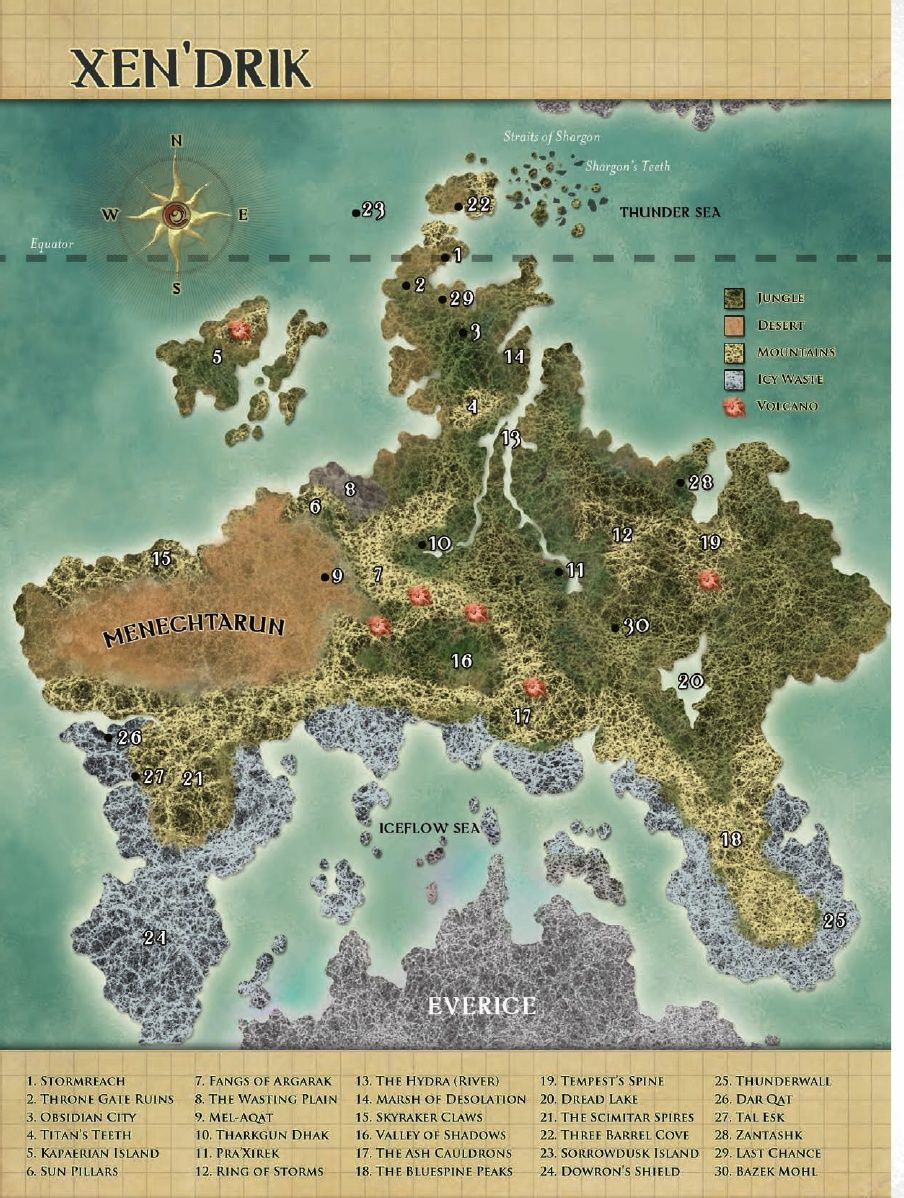 Dd 4e World Map.Giant Primordial For Eberron Secrets Of Xen Drik D And D Map In