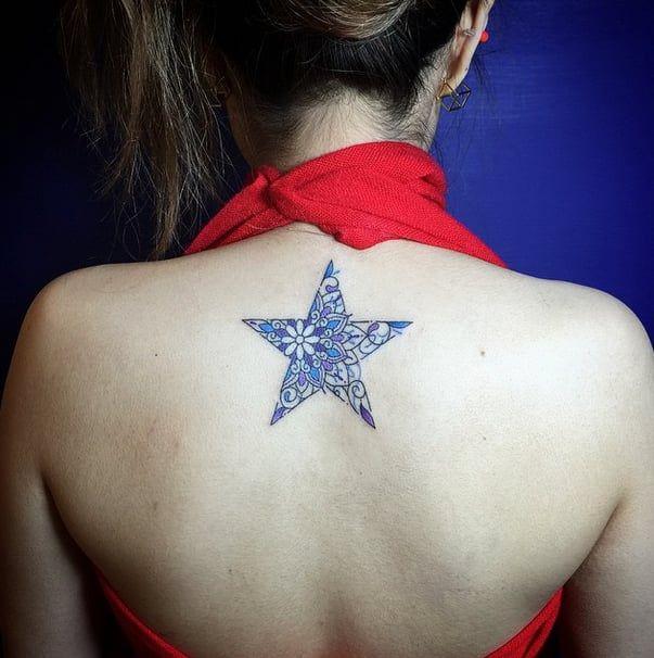 Tatuajes De Estrellas En La Espalda