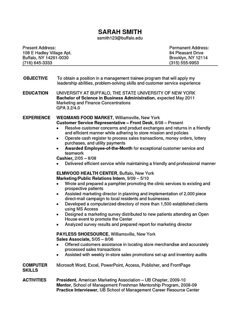 objective for resume examples for retail sales
