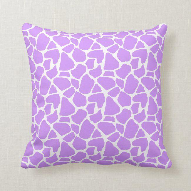 Purple Giraffe Pattern Throw Pillow | Zazzle.com