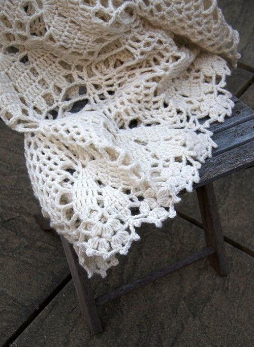 Hand crocheted decorative throw - doily | Mantel