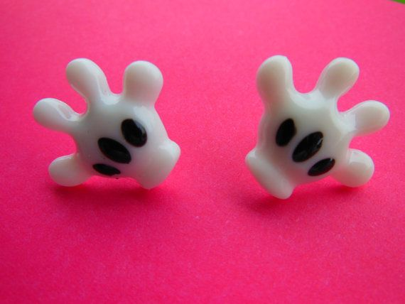 Mickey Glove Earrings From Etsy By Oh So Cute And Quirky