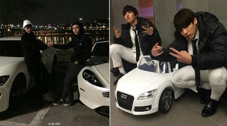 Funny Meme Kpop Bts And Exo : Badass bts exo kpop sehun swag tao white car jhope jungkook