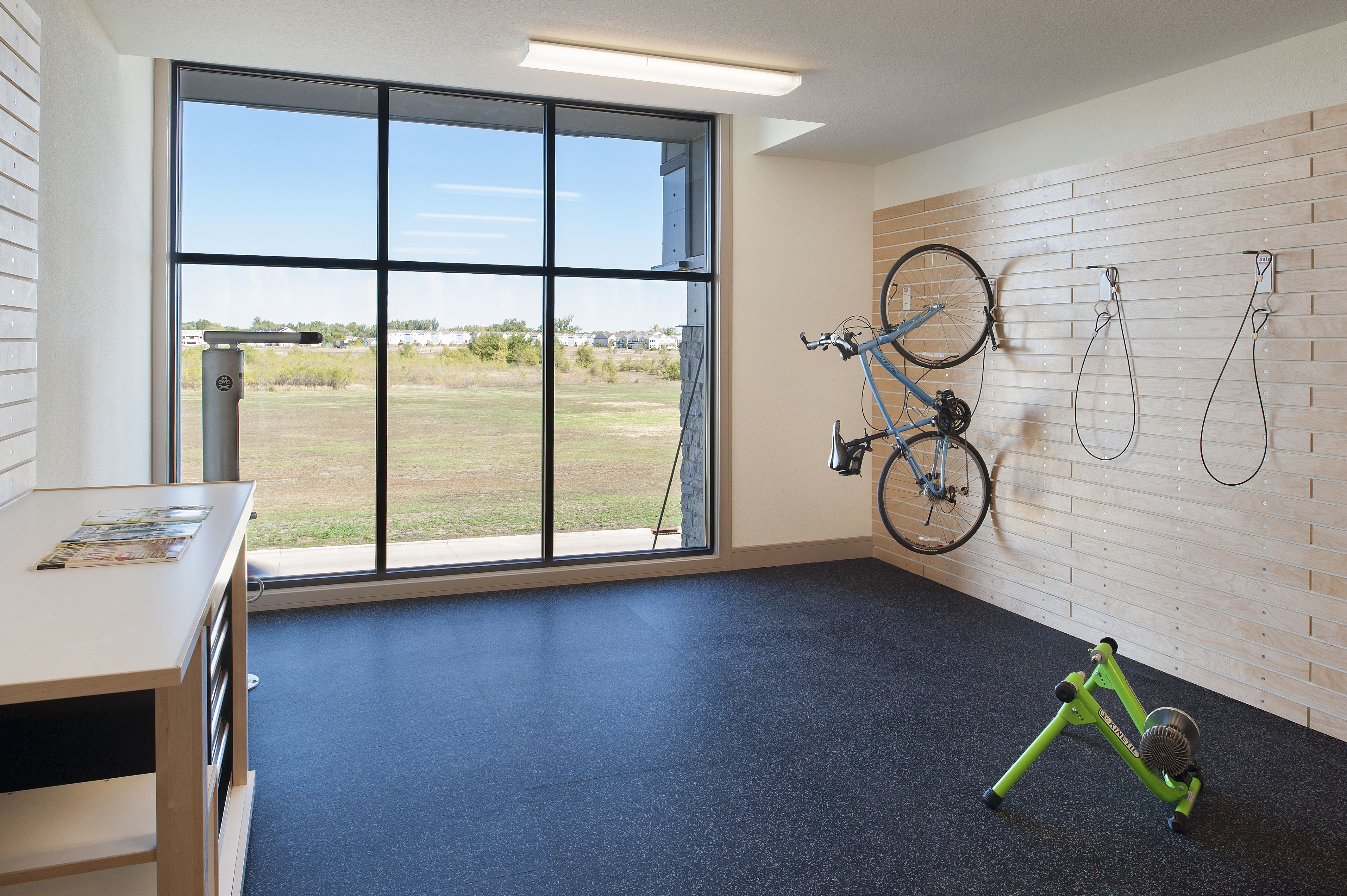 bike shop available to residents for bike storage and maintenance at the residence at the cor. Black Bedroom Furniture Sets. Home Design Ideas