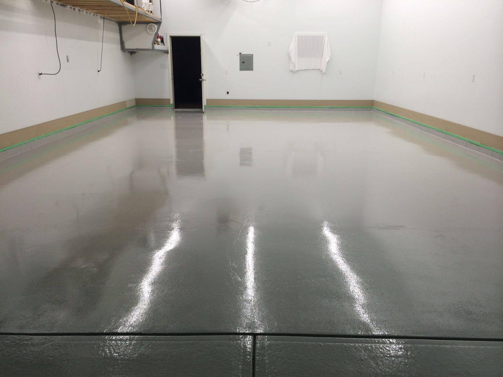 Ucoat With Ugloss Af In Light Gray Epoxy Floor Gray