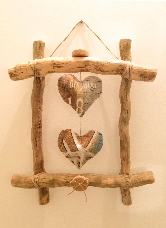 Cadre en bois flotté par l\'Atelier de Corinne   Driftwood, Diy wood ...