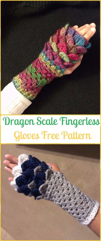 Crochet Dragon Scale Fingerless Gloves Free Pattern - Crochet Dragon ...