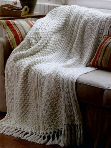 If you love the romantic look of Aran pattern stitches, the Aran ...