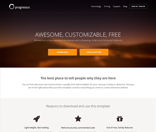 Bootstrap Website Templates Gettemplateresponsive Html5 And Css3 Templates For Rapid Web