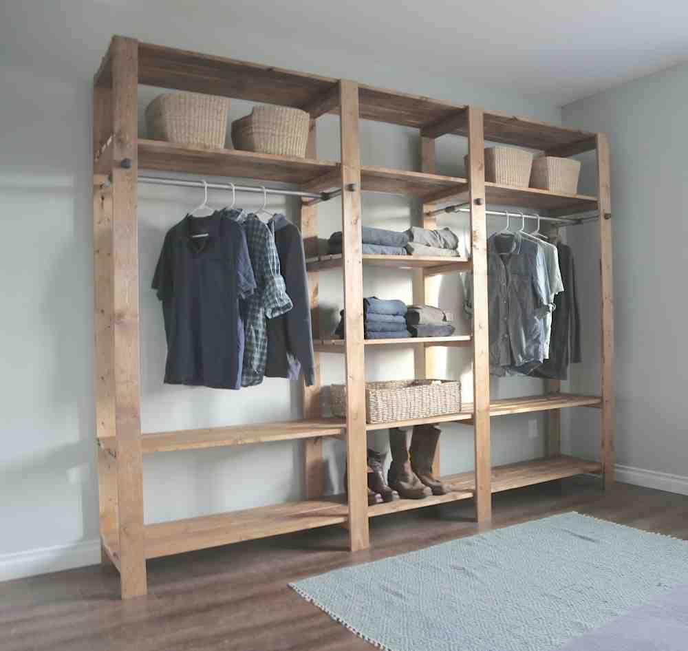 Diy Closet Shelves Wood Closet Shelves No Closet Solutions Diy Furniture Plans