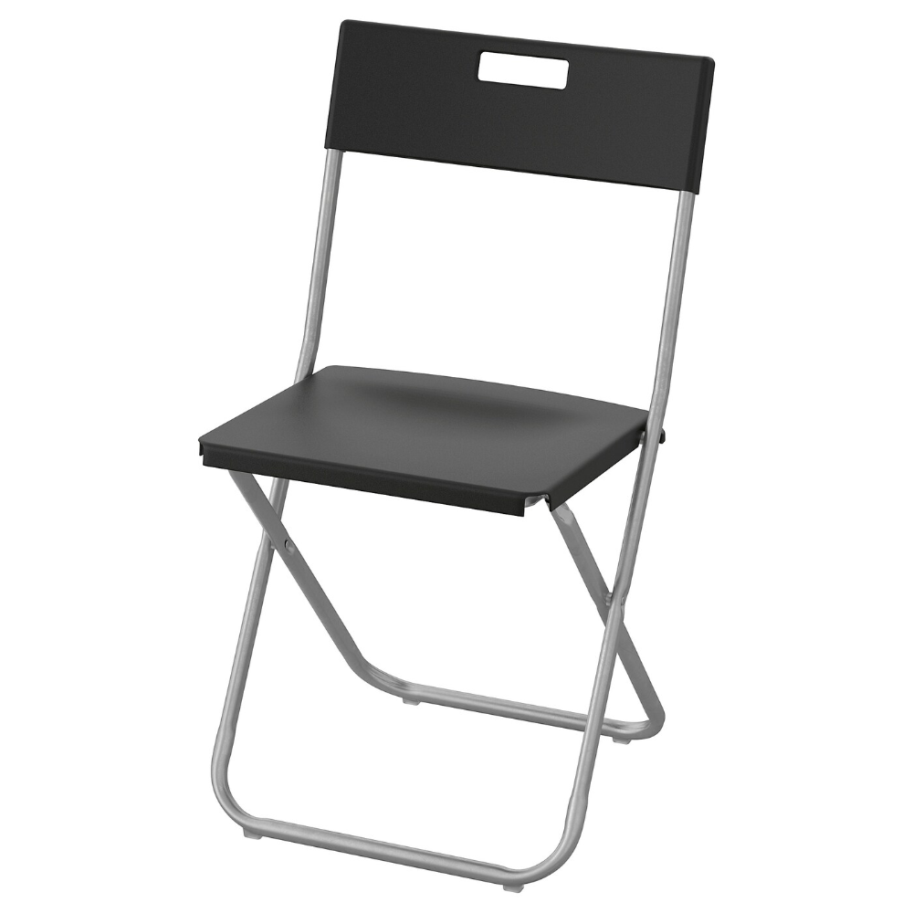 Ikea Gunde Folding Chair Black Folding Chair Kitchen Chairs