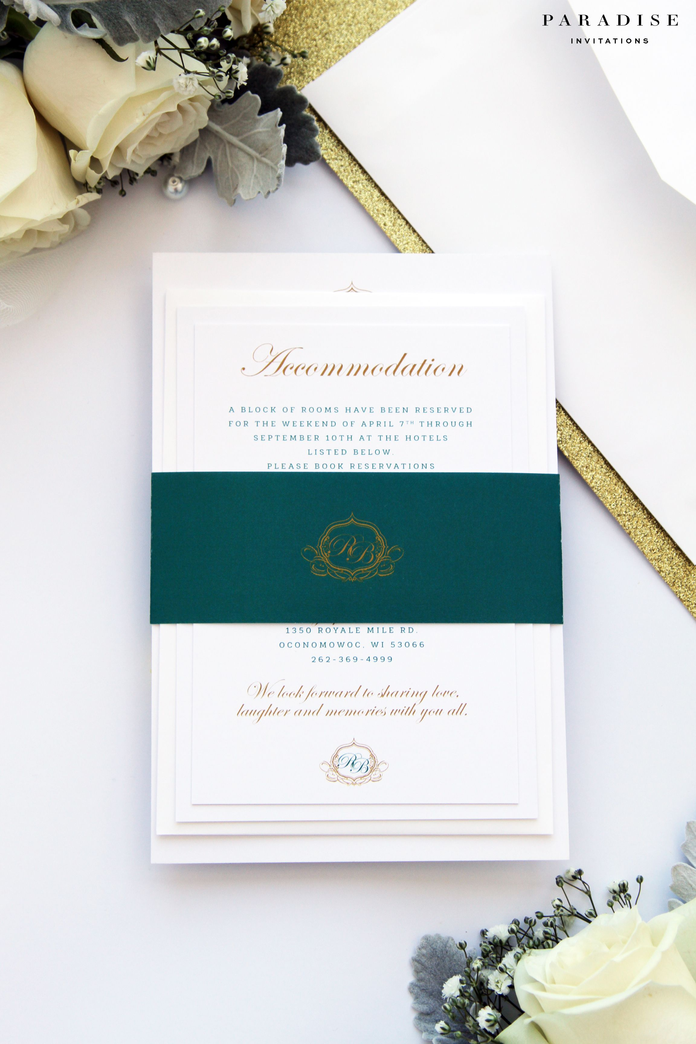 Alise White Elegant Wedding Invitation Sets, Elegant Wedding ...