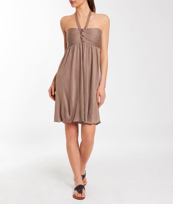 robe de plage tour de cou glam taupe etam dans le dressing de melle christelle. Black Bedroom Furniture Sets. Home Design Ideas