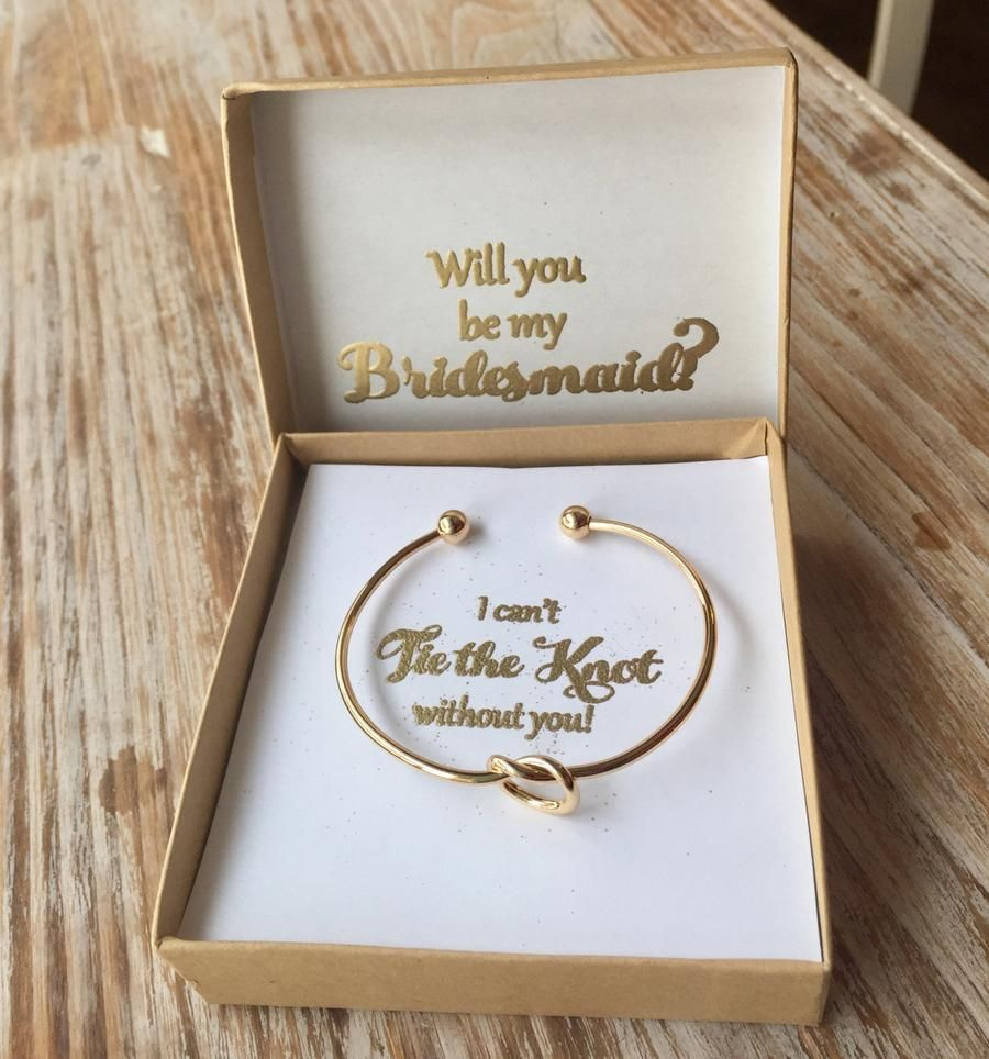 Gold Knot Bracelet Tie The Knot Bracelet Bridesmaid Jewelry Bridesm Everlong Wedding Gifts For Bridesmaids Bridesmaid Proposal Gifts Bridesmaid Gifts Knot