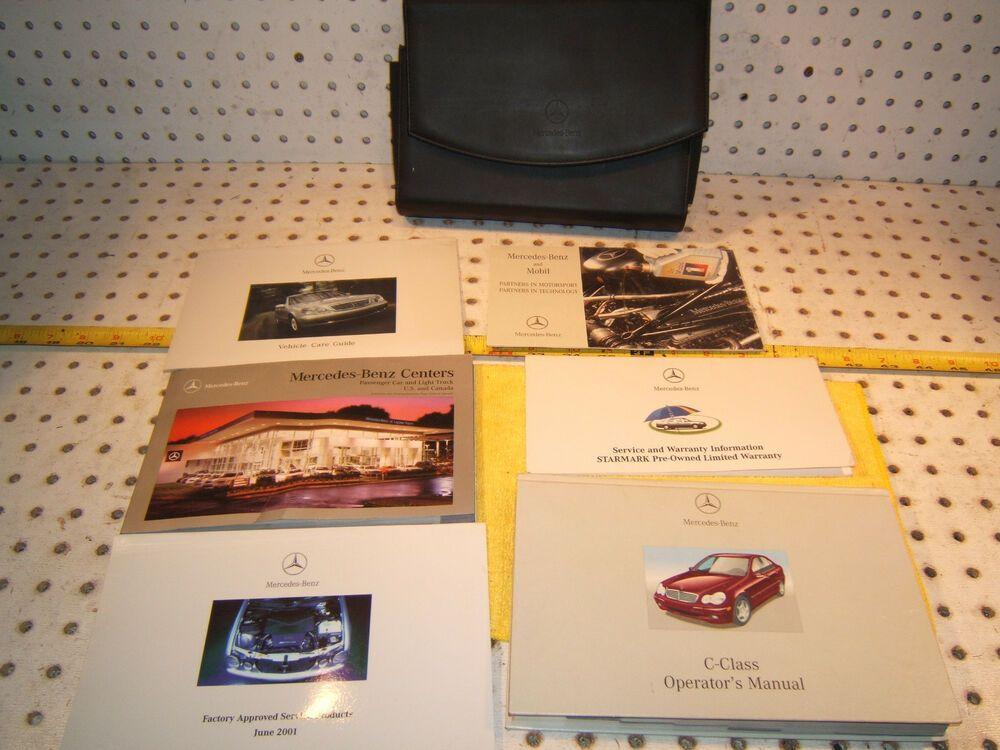 Ebay Sponsored Mercedes 02 W203 C240 320 32 Owner S 1 Set Of 6 Manual Mercedes Leather 1 Case Mercedes Manual Case