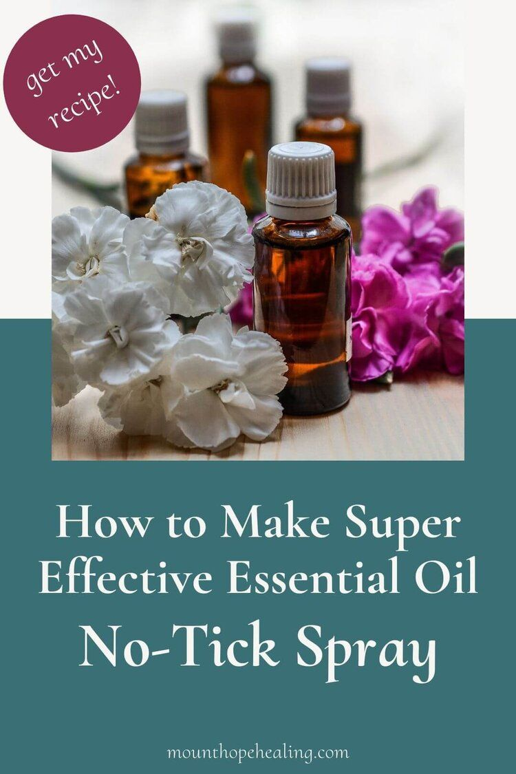 How to Make Super Effective Essential Oil NoTick Spray in