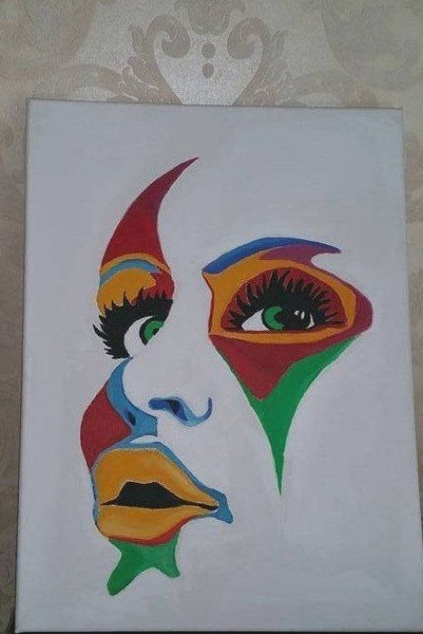 Handmade oil painting of colorful face on canvas #colorful #face #ha     -  Colorful face handmade oil painting on canvas  - #canvas #colorful #face #handmade #IndianPaintings #oil #OilPaintings #painting #Paintings
