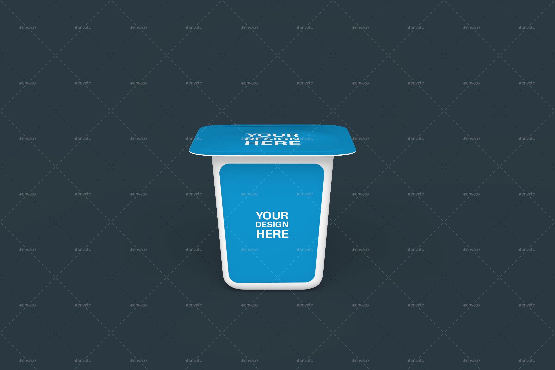 Yoghurt Mockups Affiliate Yoghurt Ad Mockups Graphic