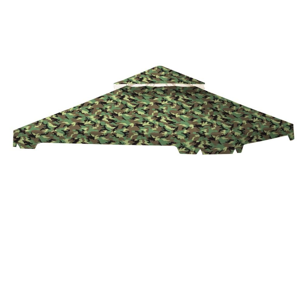 Standard 350 Camo Green Replacement Canopy Top Cover Set For 10 Ft X 10 Ft Cottleville Gazebo Lcm1305camogr Replacement Canopy Gazebo Metal Pergola