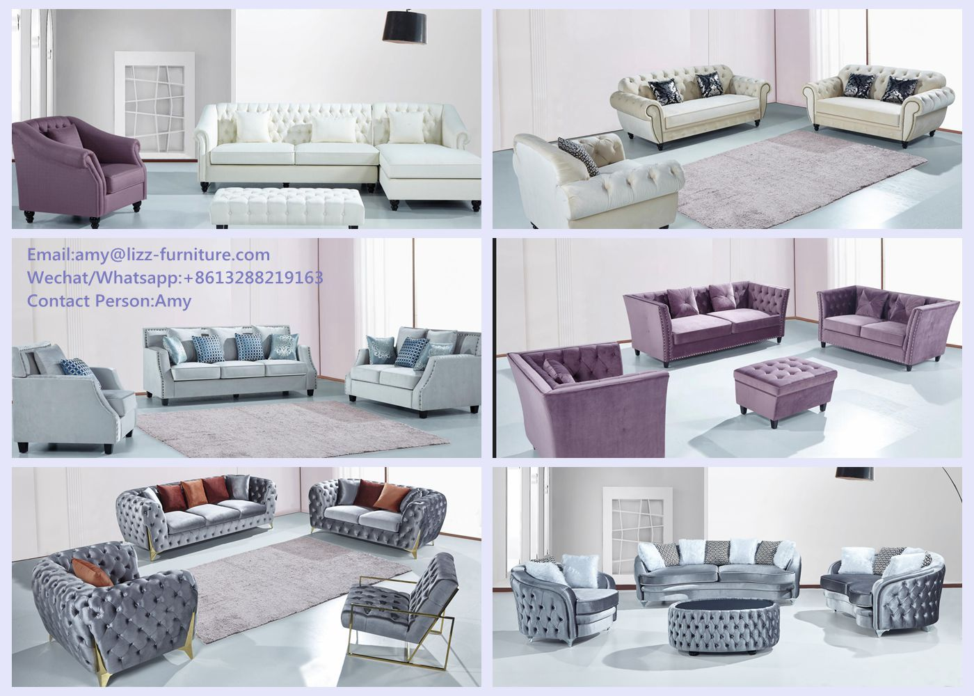 New Arrival Lizz New Design Luxury Fabric Sofa Set Sofa
