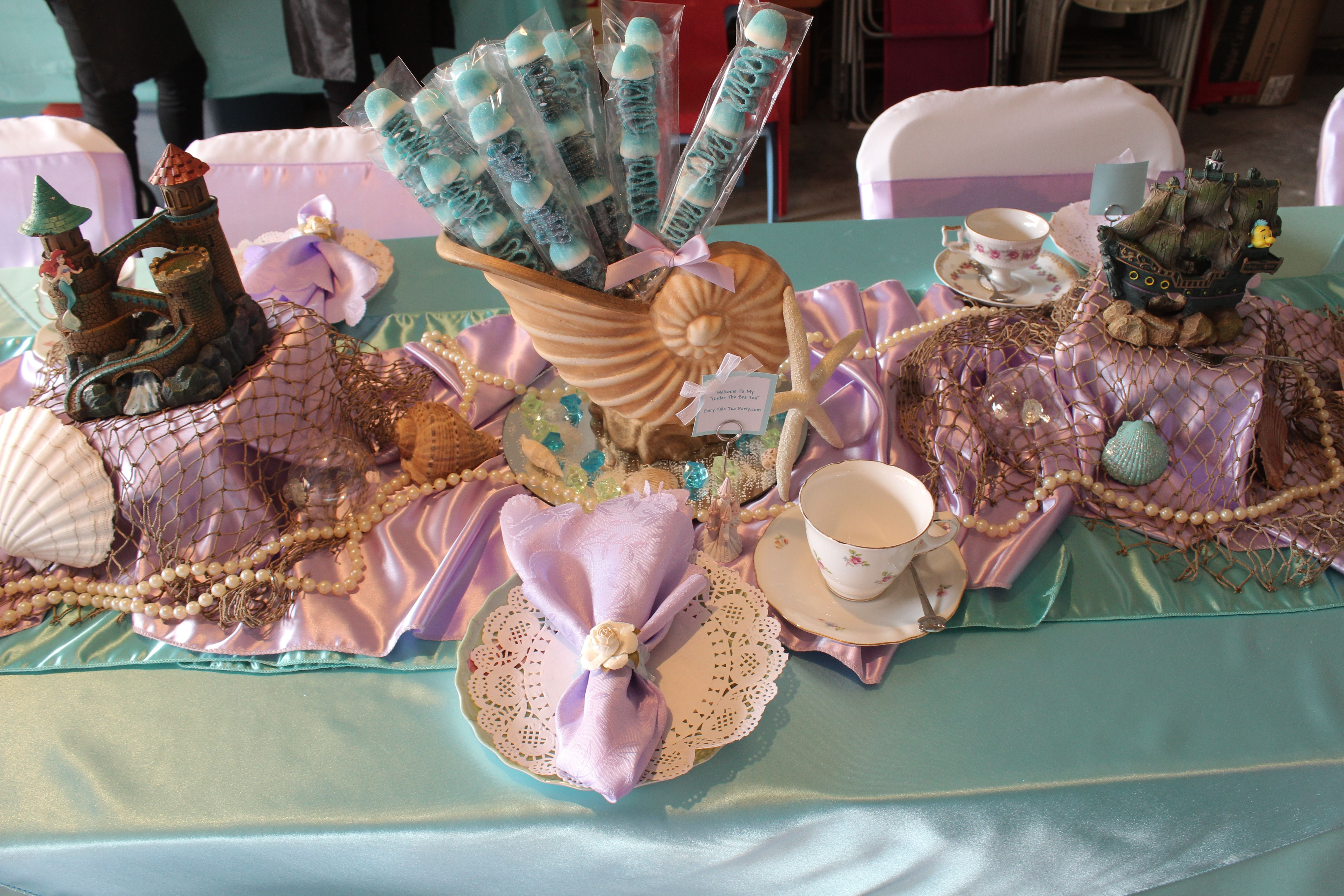 Little Mermaid table set up | Under the Sea/The Little Mermaid Party ...