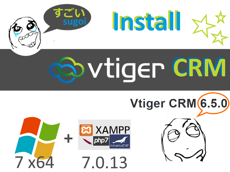 Install #vTiger #CRM 6 5 0 on Windows 7 x64 localhost