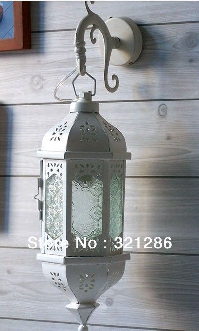 Goedkope Marokko wit iron wandlamp landelijke slaapkamer Mediterrane ...