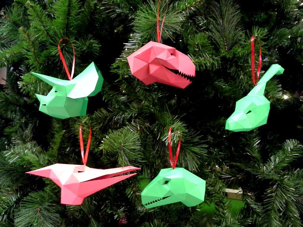 dinosaur christmas ornaments pattern make your own paper ornaments this aniversrio pinterest - Dinosaur Christmas Decorations