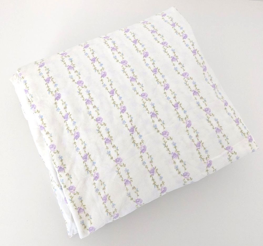 Bad Shabby Chic Simply Shabby Chic Twin Size Fitted Sheet Lavender Stripe Floral