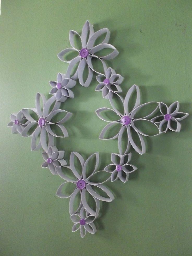 Flores de papel rollos de papel de ba o pinterest - Papel para banos ...