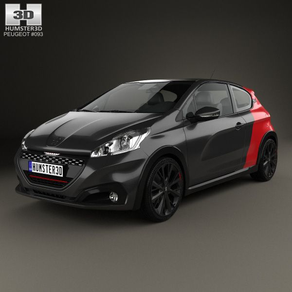 Peugeot 208 GTI 3-door 2015 3d model from Humster3D.com