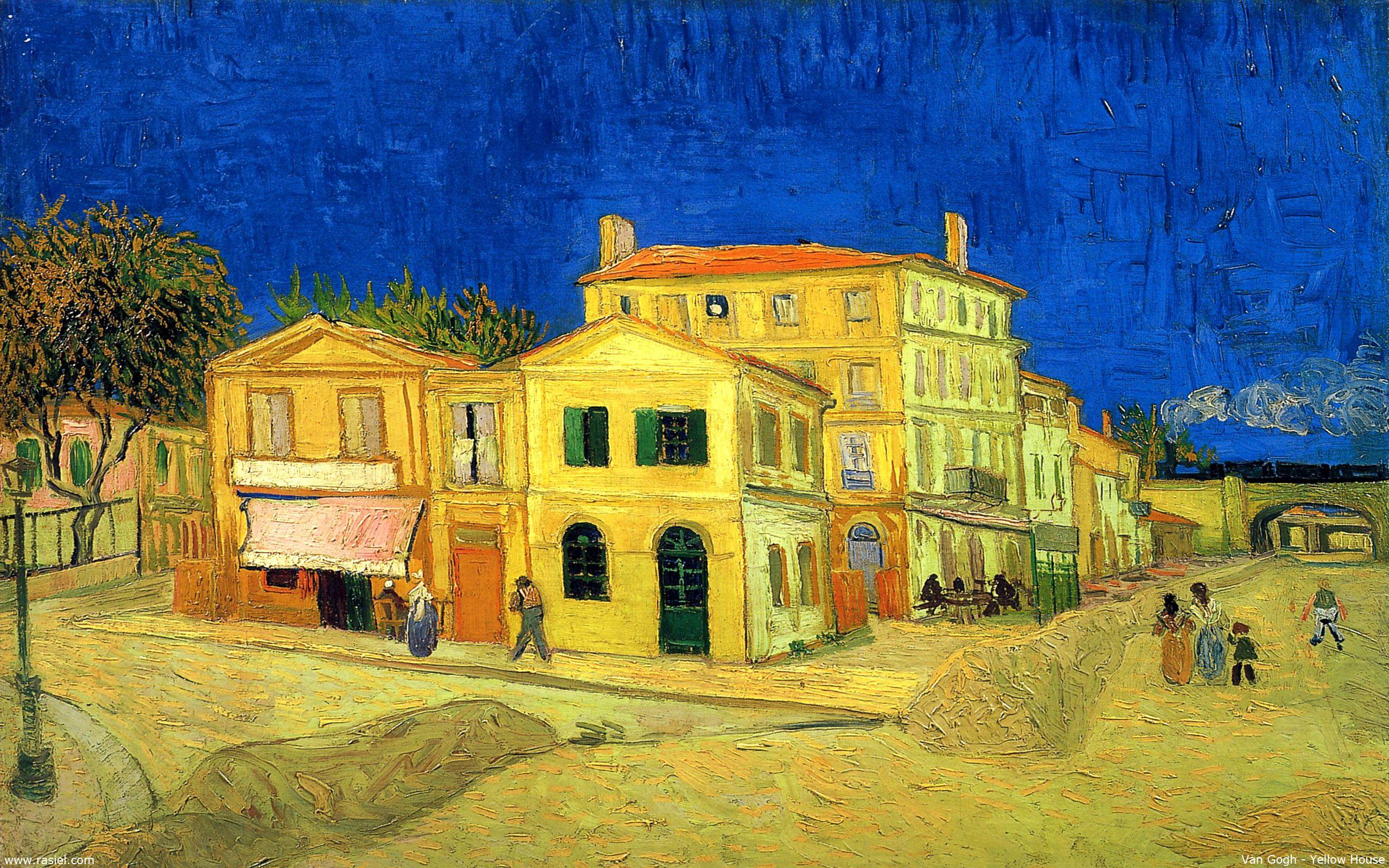 Yellow House Van Gogh Hd Image Vincent Van Gogh Paintings Artist Van Gogh Vincent Van Gogh Art